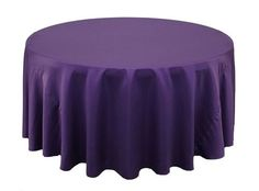 132 Inch Round L'amour Tablecloths Purple (CLEARANCE)
