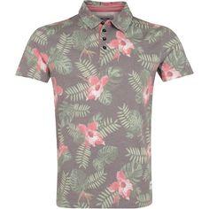 Tolles Poloshirt in Braun von Only & Sons. Dieses coole Poloshirt überzeugt mit floralem Muster. Ab 24,90 €