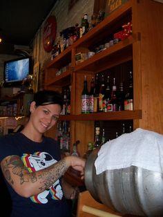 Bartender Pouring Beer at Universal Joint Asheville. #avlbeer #avl #avlpics