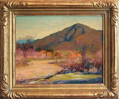 "K. Nathan Gallery 16""x20"" oil of ""Mount San Miguel in Fall"" by Alfred R. Mitchell"