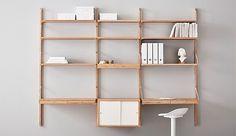 Elige una de las combinaciones de armarios y estantes de pared que te proponemos, o diseña una solución personalizada. SVALNÄS es un sistema de bambú totalmente versátil y personalizable que puedes adaptar a tus necesidades y espacio.