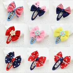 Dot Barrettes Hair Accessories for Girls Handmade Bowknot Hair Clips Accessories Wholesale Grosgrain with Alligator Clips Online with $0.28/Piece on Ginnystore's Store | DHgate.com