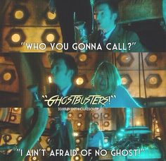 Ghostbusters and Doctor Who!!!