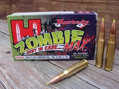 Zombie ammo. First time I ever saw some of these was in a sporting goods store, I thought it was a joke but they're real.