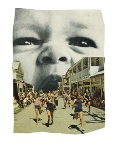 angry baby collage @lea maupetit
