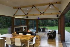 Disaster-Safe Eco Housing - Crosson Clarke Carnachan Architects Design a Flood-Proof Green Abode (GALLERY) New Zealand Houses, Solar House, Contemporary Apartment, Wooden House, Architect Design, Prefab, Sustainable Design, Modern House Design, Building Design