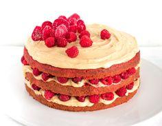 Gâteau à la betterave, aux framboises et au chocolat blond // Fou des foodies…