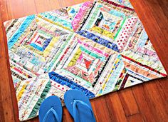 LARGE Upcycled Selvage Bath Mat Rug by TheQuiltingViolinist, $50.00