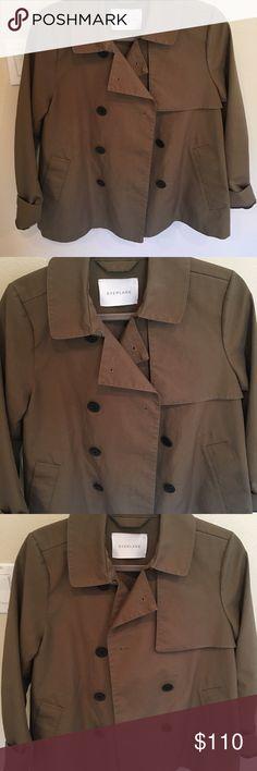Everlane short trench Brand new never worn. Non smoking house Everlane Jackets & Coats Trench Coats