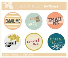Email Me Buttons (Free)  @ohhellofriendsblog.com