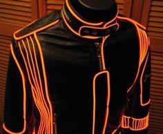 Ride the Machine: Tron dreams: Enlighted illuminated clothing.