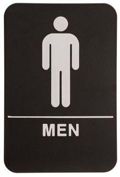 Men Restroom Sign Black/White - ADA Rock Ridge http://www.amazon.com/dp/B008FC8G3S/ref=cm_sw_r_pi_dp_xzoiub0JNQSKR