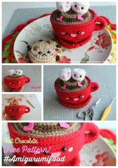 New Update Hot Chocolate San Valentine's Day Free Pattern Amigurumi Food