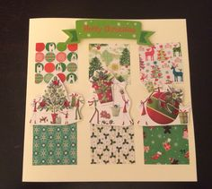Festive red and green christmas card