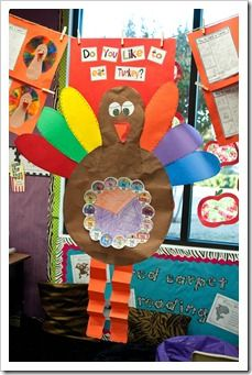 Thanksgiving: Pie Graph on a turkey to show how many kids like to eat turkey vs. how many don't like to eat turkey