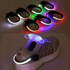 LED Luminous Shoes Clip Outdoor Bicycle LED Luminous Night Running Shoe Safety Clips Cycling Sports Warning Light for Safety Characteristics: firmly attached to the heels of your shoes.