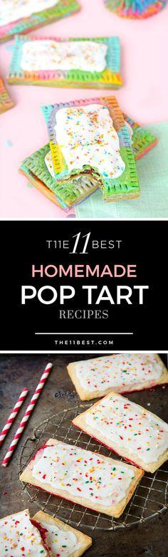 - The 11 Best Homemade Pop Tarts Recipes Homemade pop tart recipes. How to make pop tarts. Pastry Recipes, Tart Recipes, Cooking Recipes, Dessert Recipes, Oven Recipes, Bread Recipes, Just Desserts, Delicious Desserts, Yummy Food