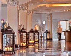 Mykonos hotel lobby.