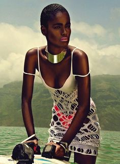 Beautiful Ghanaian woman - look at those cheekbones!