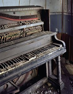 Image result for dilapidated piano