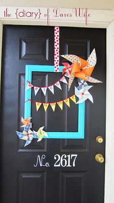 Perfect for April- child abuse awareness month    Front door decor ~ cute for Spring