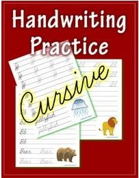 Free or cheap ways to practice cursive handwriting. Great pic! Have a look at this Cursive Handwriting post. http://www.tpt-fonts4teachers.blogspot.com/2013/02/cursive-style-fonts-family.html