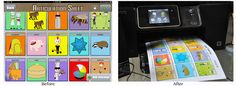 Ready for an activity creator for your iPad? Check out this before and after on Custom Boards for iPad