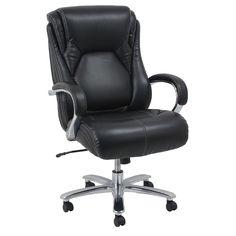Big Tall Office Chair Barcalounger Heavy Duty Executive 500lb Metal And Chrome  #Barcalounger #ExecutiveManagerialChair