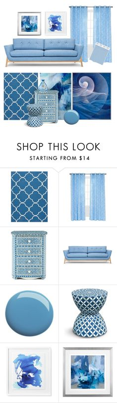 """""""Blue Skies"""" by patricia-dimmick on Polyvore featuring interior, interiors, interior design, home, home decor, interior decorating, BoConcept, Jaipur, Yorkshire Home and Blue"""