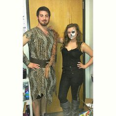 CaveBear and I  #halloweekend #halloweencostume #halloweenmakeup #makeupoftheday #fotd #MGBbeauty #caveman #badassbitches