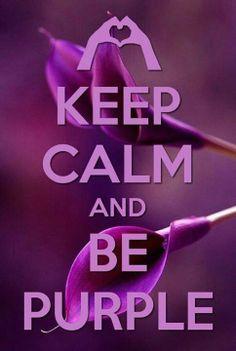 My favorite color ever. Keep Calm & Be Purple lol ♥ Purple Love, All Things Purple, Purple Lilac, Shades Of Purple, Deep Purple, Periwinkle, Purple Stuff, Magenta, Purple Art