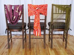 Tie a #scarf around the back of your chairs for some extra pizazz!