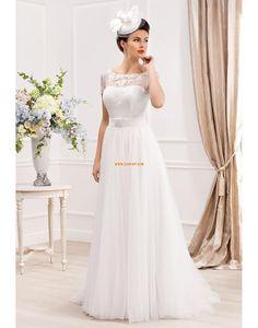 Lodičkový výstřih Tyl Léto Svatební šaty 2014