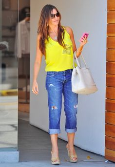 Current/Elliott 1957 Boyfriend Jean in Loved Destroyed - as seen on Sofia Vergara