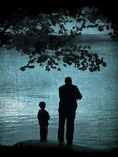 Memories daddy and me down at the bay, sitting in the truck watching the boats and birds, eating smoked whiting.