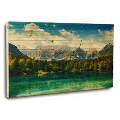 "Gallery 57 ""Rocky Mountain Lake"" Photographic Print"