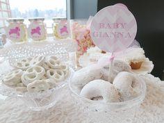 LAMB THEMED BABY SHOWER www.ohitsperfect.com.au #pink #white #babyshower