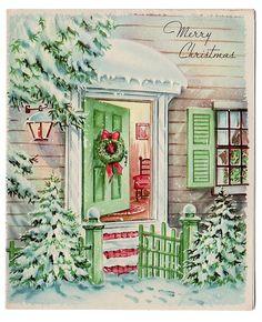 Love this vintage Christmas card:
