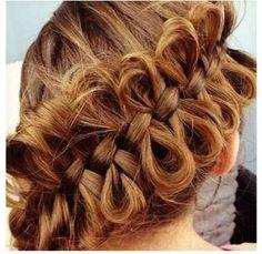 Diagonal Bow Braid a Cute Braided Hairstyles Cute Braided Hairstyles, Cute Girls Hairstyles, Pretty Hairstyles, Girl Hairstyles, Style Hairstyle, Braided Updo, Ribbon Hairstyle, Celebrity Hairstyles, Wedding Hairstyles