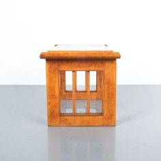 Art Deco Nightstands or Sofa Side Tables from Burl Wood, Italy, circa 1940
