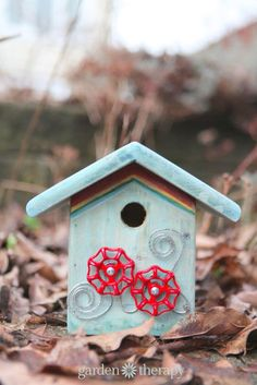 DIY junk metalwork birdhouse for Ronald MacDonald House charity #birdhouseideas