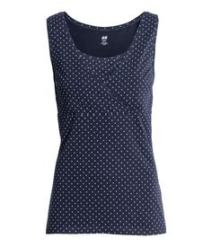 006800fa9fae H&M - Fashion and quality at the best price | H&M US. MAMA 2-pack Nursing  Tops | Dark blue/dotted | WOMEN ...
