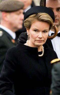 Queen Mathilde, December 12, 2014 in Fabienne Delvigne | Royal Hats