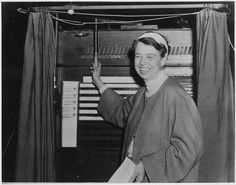 Eleanor Roosevelt votes in Hyde Park, New York, 11/03/1936 by the U.S. National Archives, via Flickr