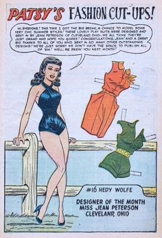 Patsy Walker 49 published by Atlas in November 1953. It has just one page with a paper doll.