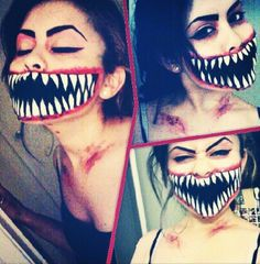 Halloween makeup venom mouth. INSTAGRAM: Jossy102