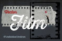 15 Vector Film Textures by Offset on @creativemarket