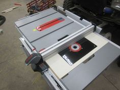 Bosch 4100 09 table saw collapsed with router insert extension image result for bosch 4100 table saw crosscut sled greentooth Image collections