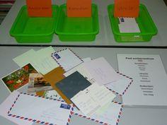 sorteercentrum post brieven bij juiste persoon brengen (gekleurde brieven)