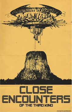 Close Encounters of the Third Kind (1977) ~ Alternative Movie Poster by Trevor Dunt #amusementphile